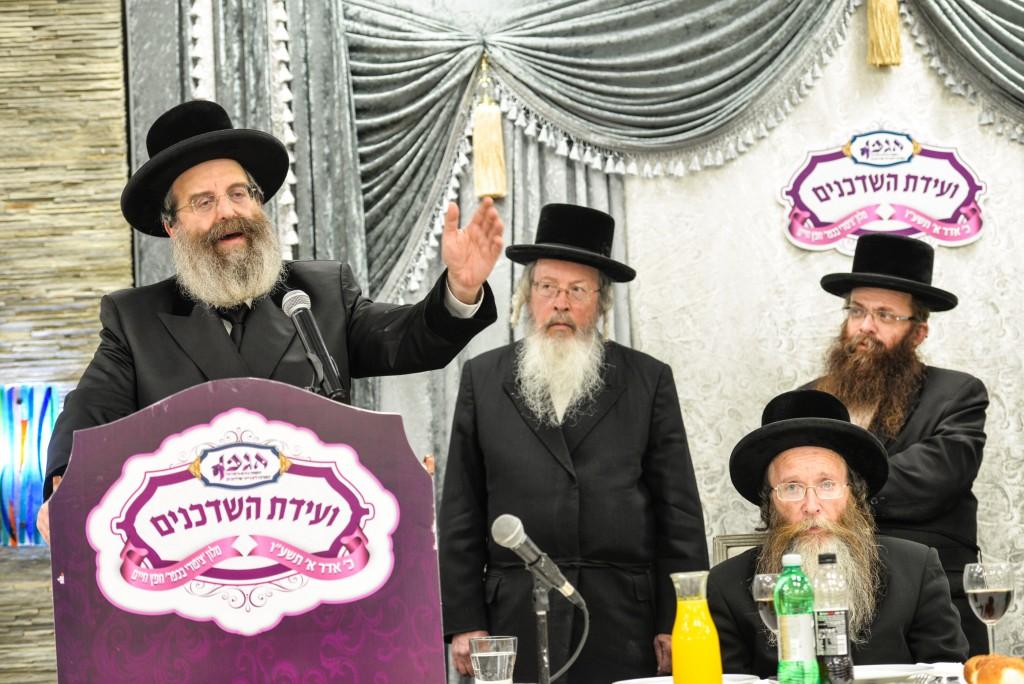The Sadigura Rebbe, shlita speaking to the shadchanim