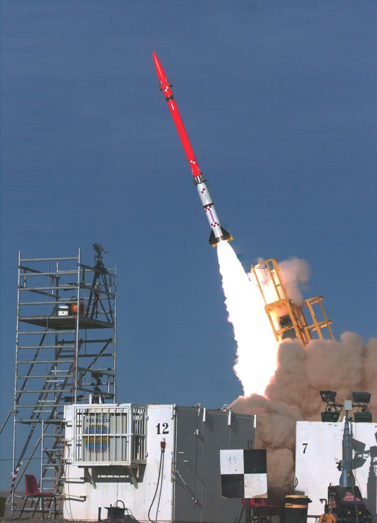 The David's Sling interceptor during a test launch. (Ministry of Defense/Flash90)
