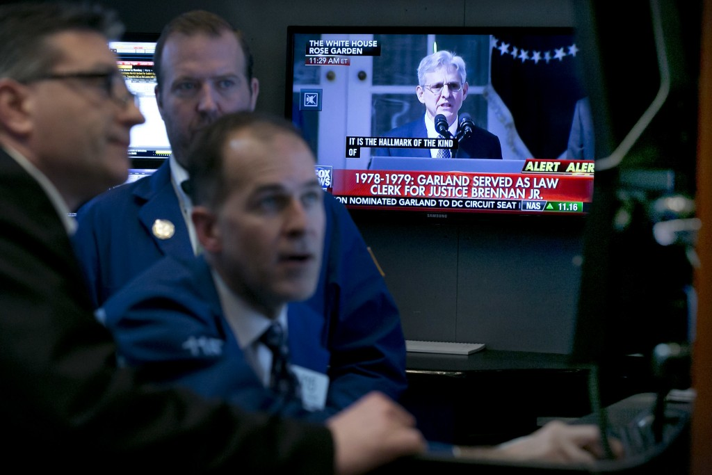 The trading floor of the New York Stock Exchange on Wednesday. (AP Photo/Richard Drew)