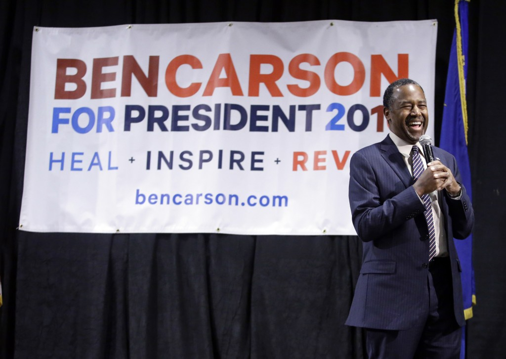 Ben Carson at a town hall meeting in Reno, Nev., on Feb. 21. (AP Photo/Marcio Jose Sanchez)