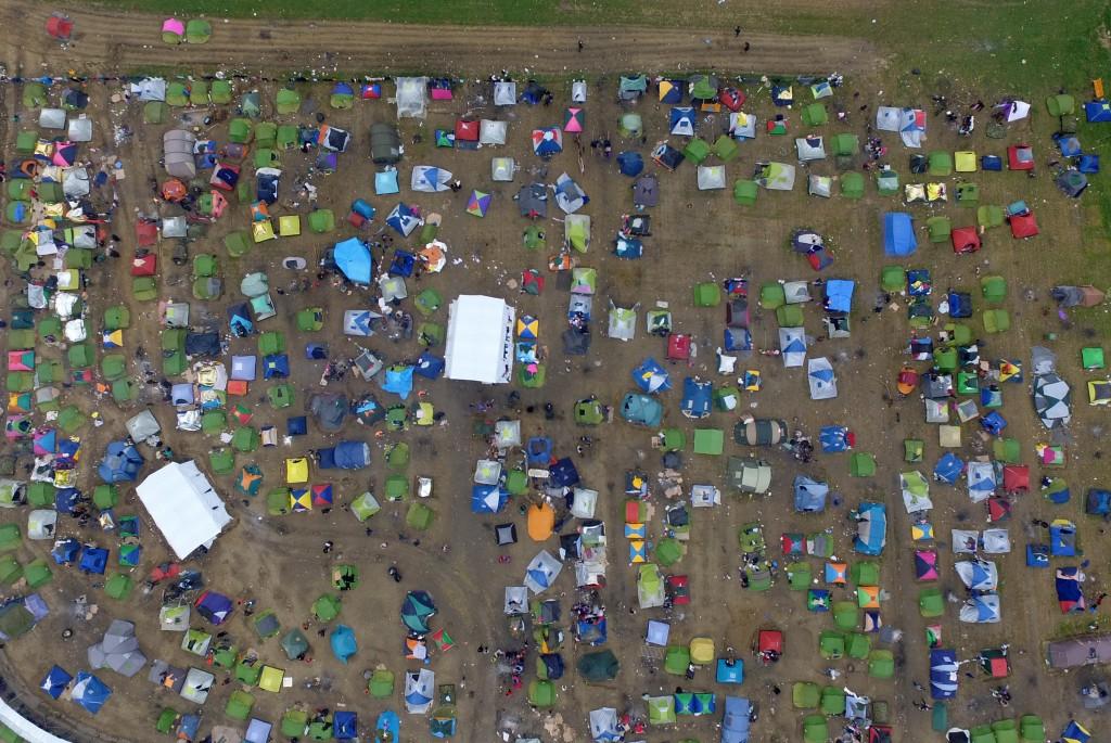 Tents nea a refugee camp at the Greek-Macedonian border. (AP Photo/Eldar Emric)