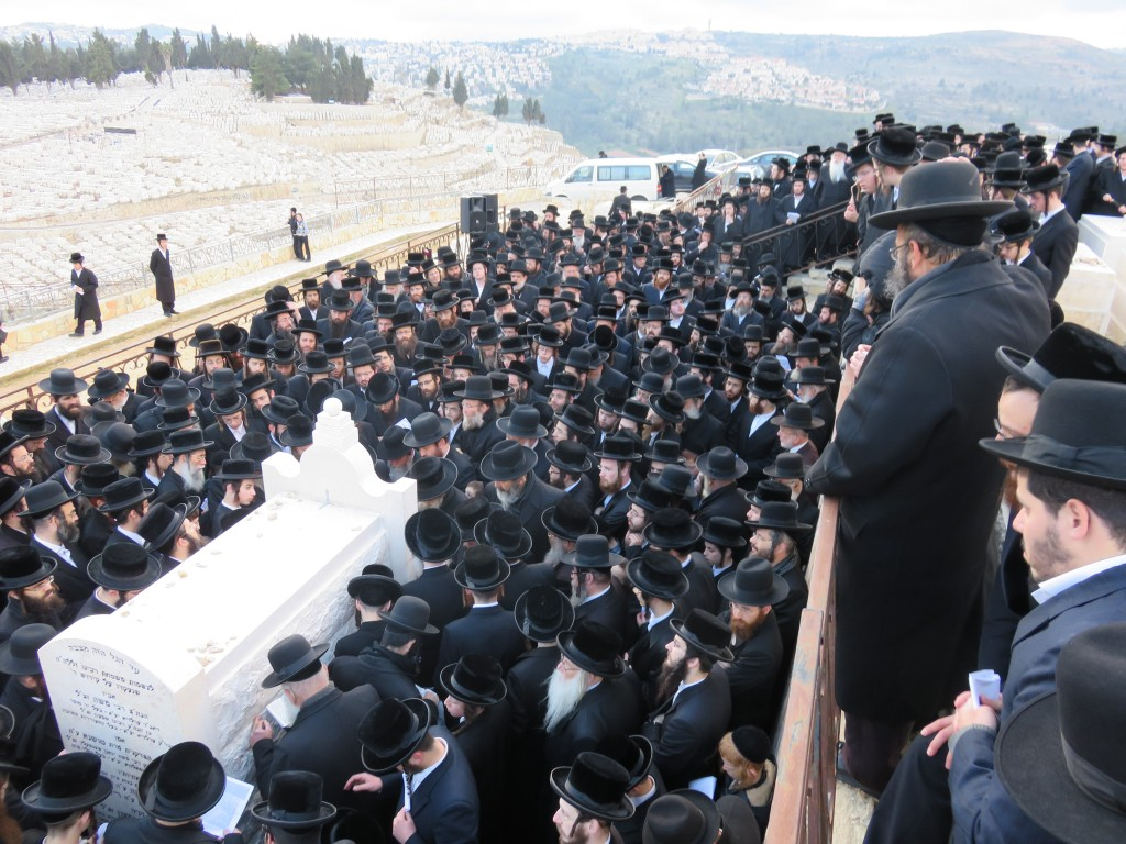 A view of the crowd at the hakamas matzeivah.