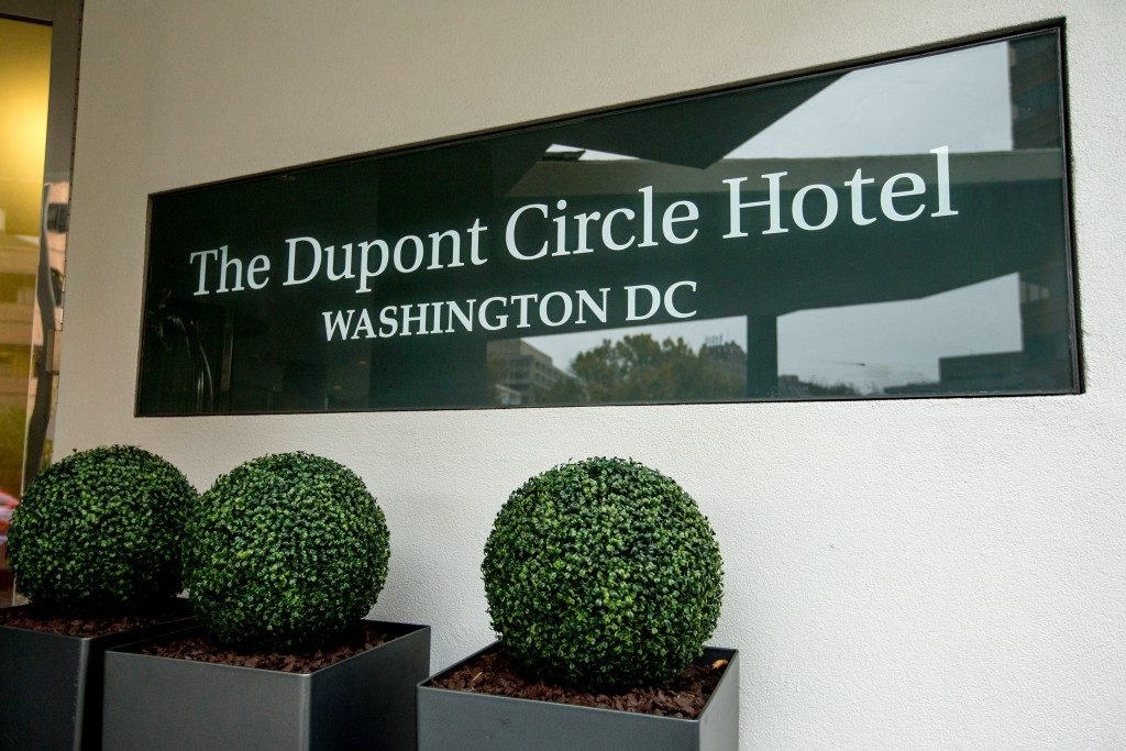 The Dupont Circle Hotel in Washington. (AP Photo/Andrew Harnik, File)