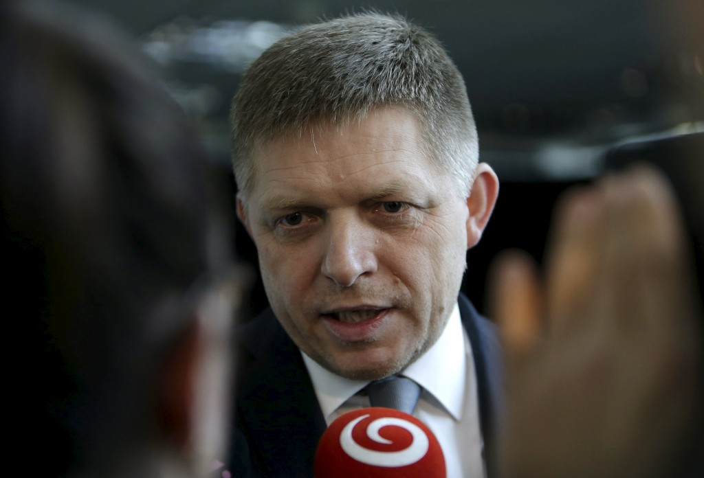 Slovakia's Prime Minister and leader of Smer party Robert Fico answers questions after a live broadcast of a debate after the country's parliamentary election, in Bratislava, Slovakia, March 6, 2016. REUTERS/David W Cerny