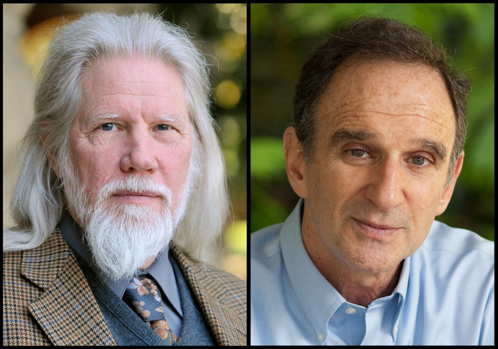 This composite photo shows Whitfield Diffie, left, and Martin Hellman. (Rod Searcey, Linda A. Cicero/Courtesy of Stanford University via AP)