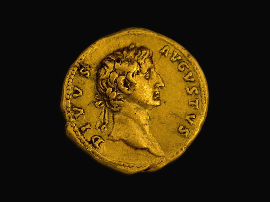 The Roman coin found in the Galilee (Israel Antiquities Authority)
