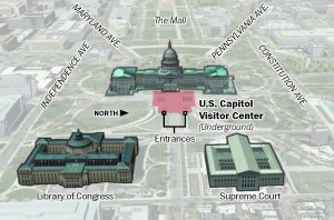 Map of the Capitol Visitor Center (The Washington Post)
