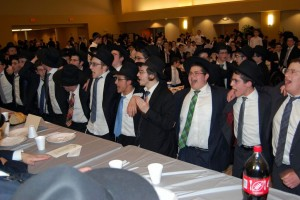 A view of the crowd at the melaveh malkah.