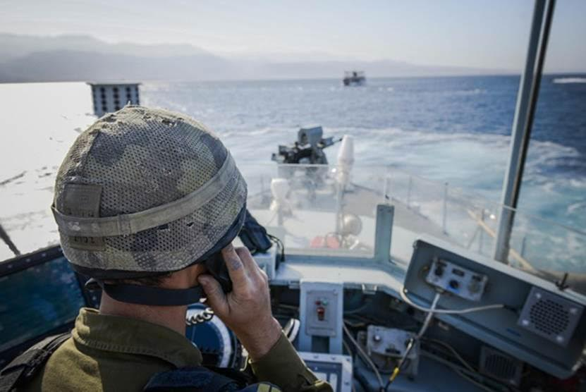 The Israeli Navy seen in action during a large-scale exercise in the Gulf of Eilat.  (IDF Spokesperson)
