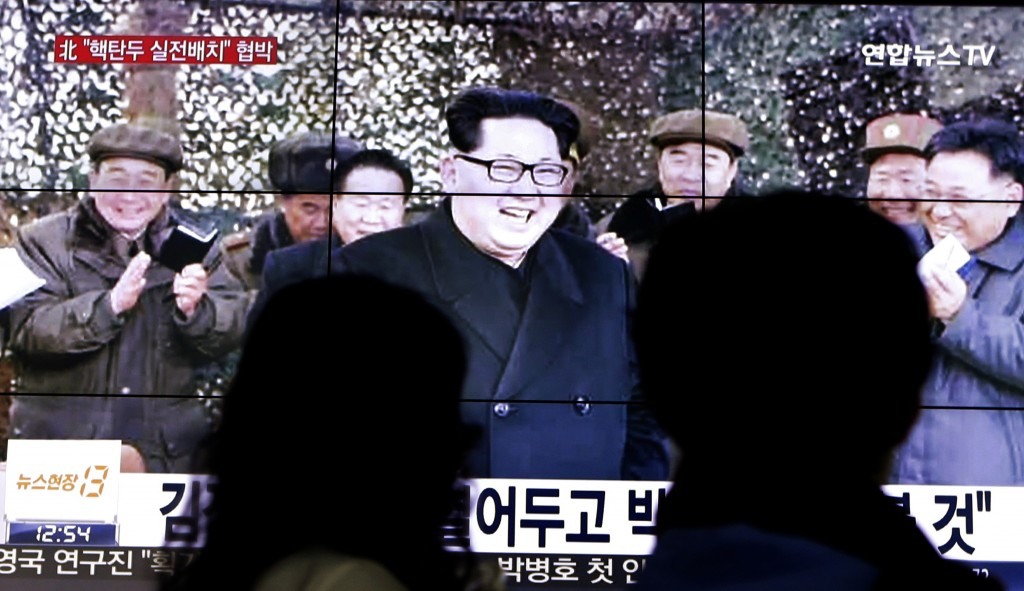 An image of Kim Jong Un is seen on a news program in in Seoul, South Korea, on Friday. (AP Photo/Ahn Young-joon)