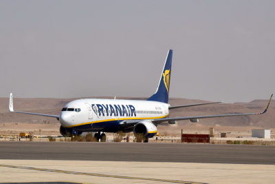 Irish lowfare airline Ryanair arrives at the airport in Eilat on November 9, 2015. Photo by Flash90 *** Local Caption *** ????? ???? ??? ????? ???? ???? ????? ????? ???? ?????