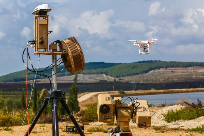 The new Rafael system for the detection and neutralization of enemy drones. (Photo: Rafael)