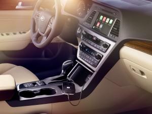 The 2016 Hyundai Sonata Hybrid offers comfortable seats and abundant leg room. (Hyundai/TNS)