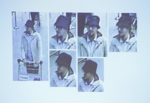 """The """"man in the hat"""" seen in CCTV footage at Brussels airport on March 22, in an image made available by Belgian Police on April 7, 2016. Mohamed Abrini, wanted over November's Islamic State attacks in Paris, has been arrested in Brussels, Belgian public broadcaster VRT said on Friday, adding that he was probably involved in last month's Brussels bombings. Abrini, a 31-year-old Belgian, was """"more than likely"""" the """"man in the hat"""" seen on security camera footage at Brussels airport on March 22 with two suicide bombers, VRT said, citing unidentified sources. (Reuters/CCTV/Belgian Federal Police/Handout via Reuters/File)"""