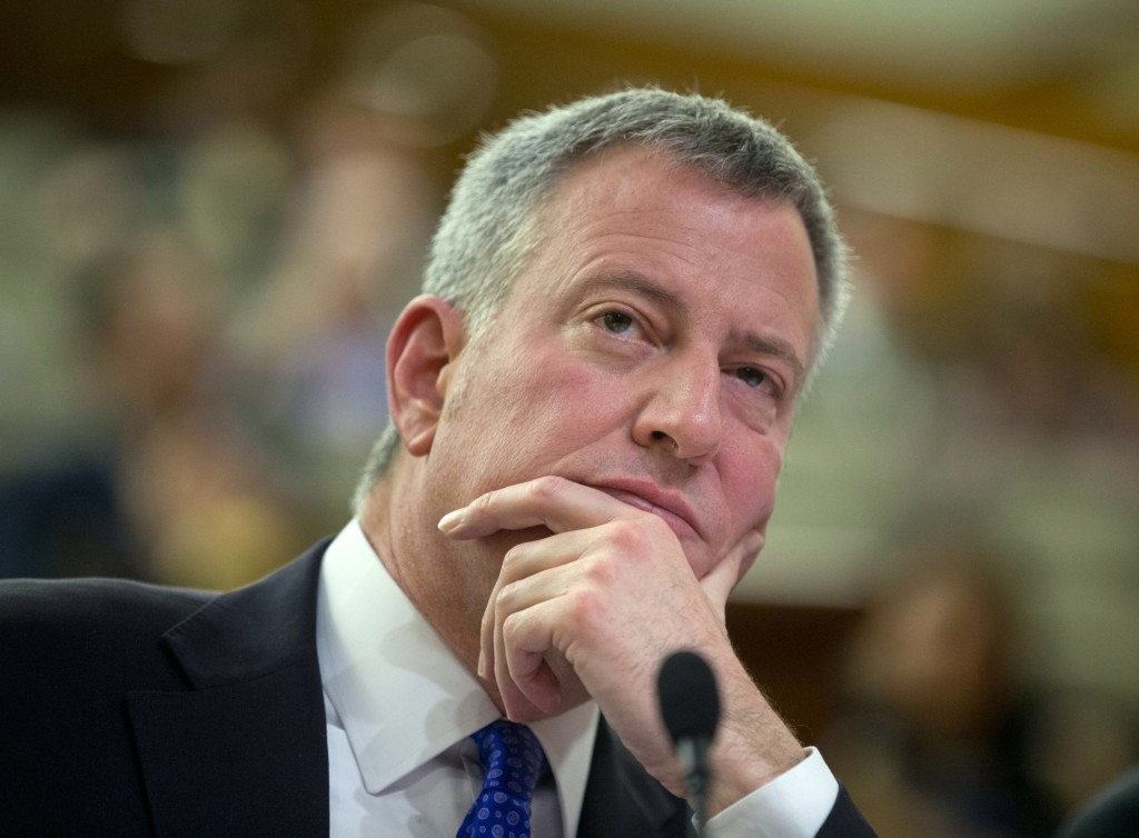 New York City Mayor Bill de Blasio (AP Photo/Mike Groll, File)