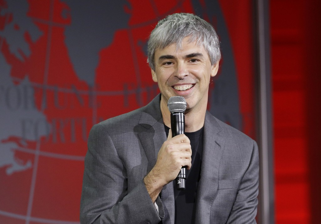 Alphabet CEO Larry Page, shown here speaking at the Fortune Global Forum in San Francisco last November. (AP Photo/Jeff Chiu)