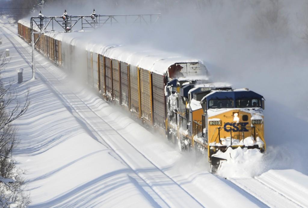 File photo of a CSX freight train in Lancaster, N.Y  (AP Photo/Gary Wiepert)