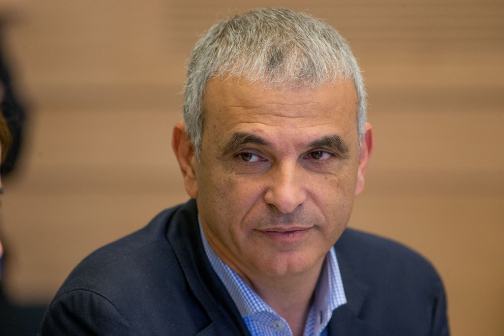 Israeli Finance Minister Moshe Kahlon, shown here speaking during a Labor, Welfare and Health Committee meeting at the Knesset on March 23. (Yonatan Sindel/Flash90)