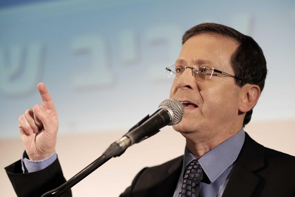 Opposition Leader Isaac Herzog (Tomer Neuberg/Flash90)