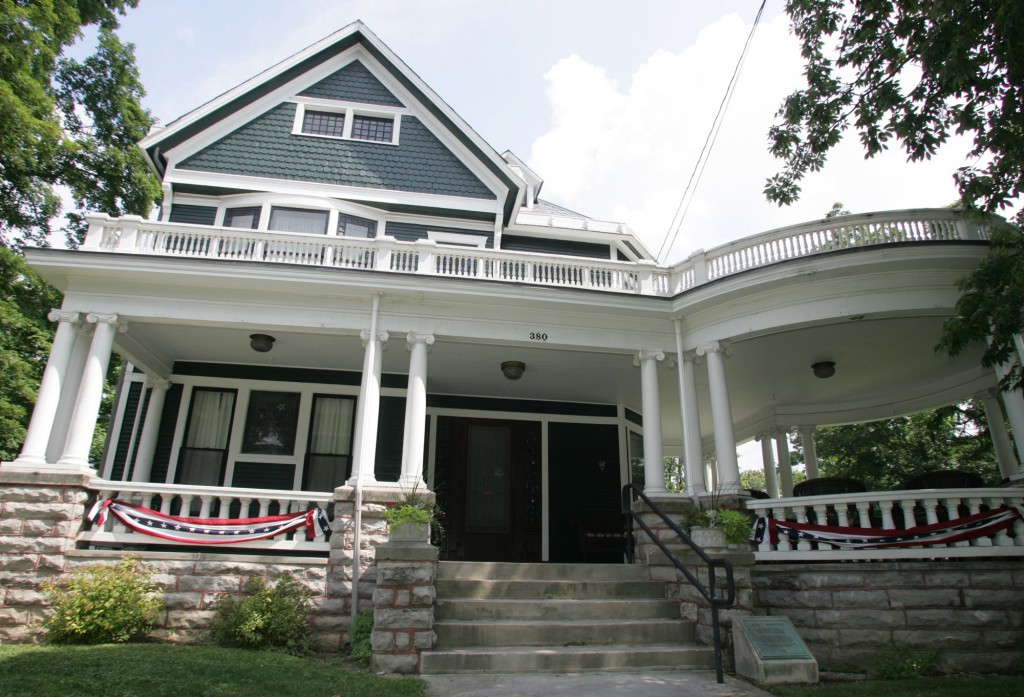 The Harding home, the residence of Warren G. Harding and his wife Florence from 1891 until his presidential inauguration in 1921, in Marion, Ohio. (AP Photo/Paul Vernon, File)
