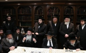 At the meeting of the Gedolim. (JDN)