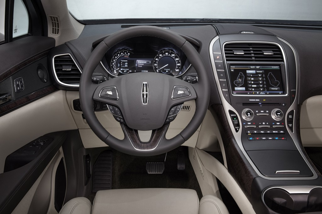 The 2016 Lincoln MKX interior. (Lincoln)