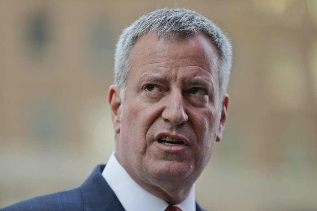 New York City Mayor Bill de Blasio (AP Photo/Frank Franklin II, File)