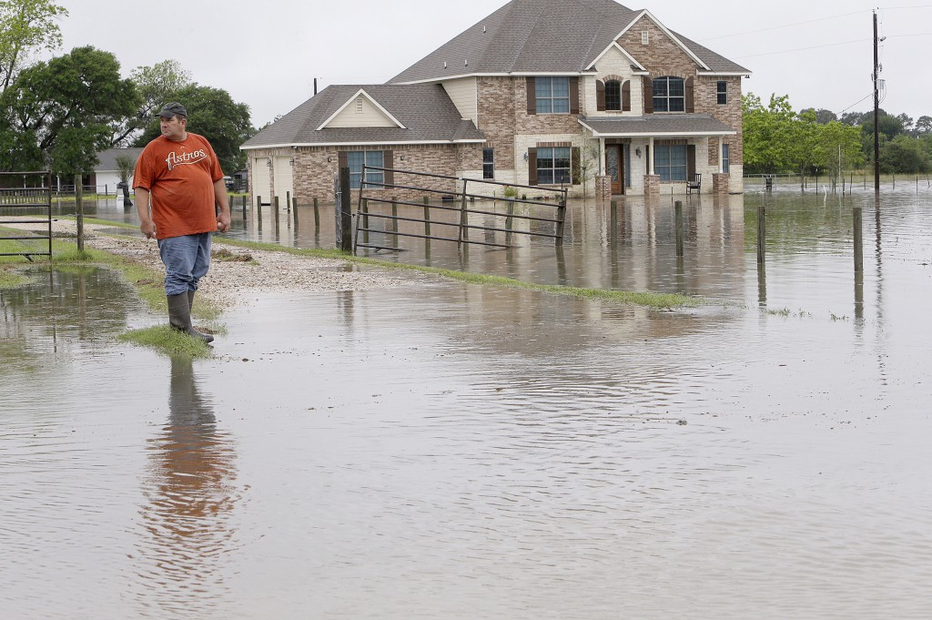 Donald Treichel outside his home in Cypress, Texas, on Monday. (Melissa Phillip/Houston Chronicle via AP)