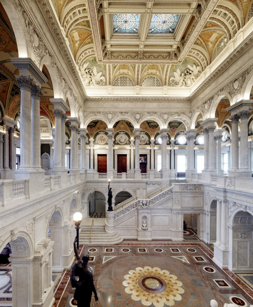 The Great Hall of the Library of Congress.