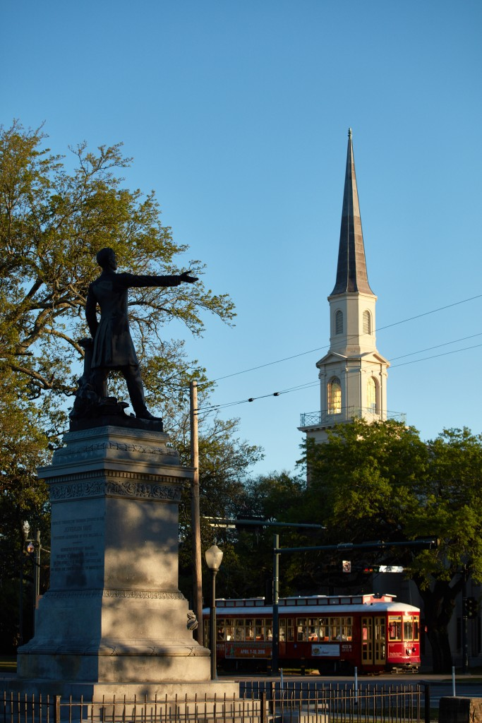 The Jefferson Davis statue in New Orleans (Ben Depp/The Washington Post)