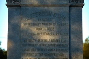 Detail of the Jefferson Davis statue in New Orleans (Ben Depp/The Washington Post)
