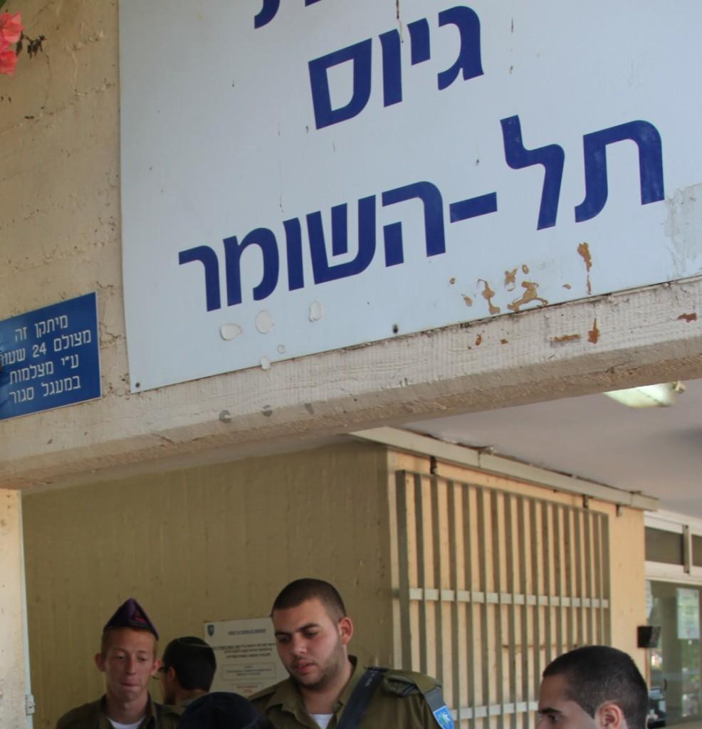 "The Tel Hashomer IDF base in Israel, on August 1, 2013. The largest numbers so far of ultra-orthodox new recruits to the Israeli army arrived at the Bakum army base on August 1. Most of them are expected to be absorbed in the Netzah Yehuda Battalion, under the Nahal Haredi. Photo by Flash90 *** Local Caption *** מחזור ה גיוס ה נרחב ב יותר ב שנים ה אחרונות ב בסיס תל השומר שוויון ב נטל שויון ב נטל חיילים חייל חרדי חרדים דתי דתיים חילוני חילונים מתגייסים גיוס תל ה שומר בקום בקו""מ גדוד הנח""ל החרדי נצח יהודה חטיבת כפיר צבא צה""ל"