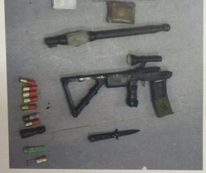 The weapons caught by the Shin Bet. (Shin Bet)