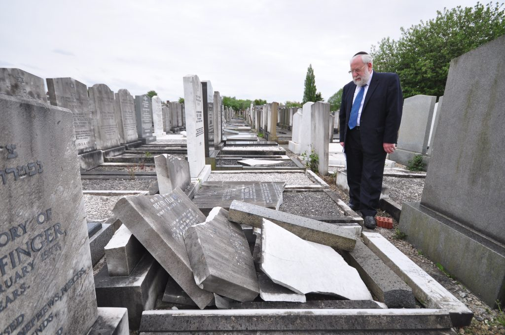 Mr Stephen Wilson the administrator for the North Manchester Jewish Cemeteries Trust commented , ''Dismayed and here we go again'' said Mr Wilson. In June 2014 the same Cemetery was vandalised causing thousands of pounds of damage, tow fifteen year old boys were charged. PICTURES BY LAWRENCE PURCELL, FREELANCE PHOTOGRAPHER many thanks Lawrence Purcell