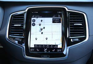 Touch screen in Volvo's all-new XC90 three-row SUV (E. Jason Wambsgans/Chicago Tribune/TNS)