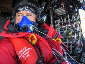 Swiss adventurer Andre Borschberg is seen onboard the Solar Impulse 2 (Si2) during the flight from Tulsa  to Dayton on Saturday. (Andre Borschberg, Jean Revillard, Christophe Chammartin/SI2/Handout via Reuters)