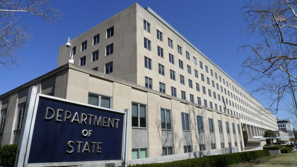The Harry S. Truman Building, headquarters for the State Department, in Washington. (AP Photo/J. Scott Applewhite)