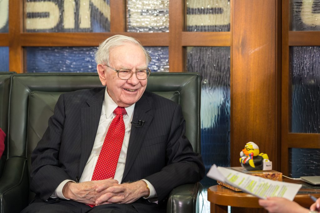 Warren Buffett, shown here being interviewed  on the Fox Business Network earlier this month. (AP Photo/John Peterson)