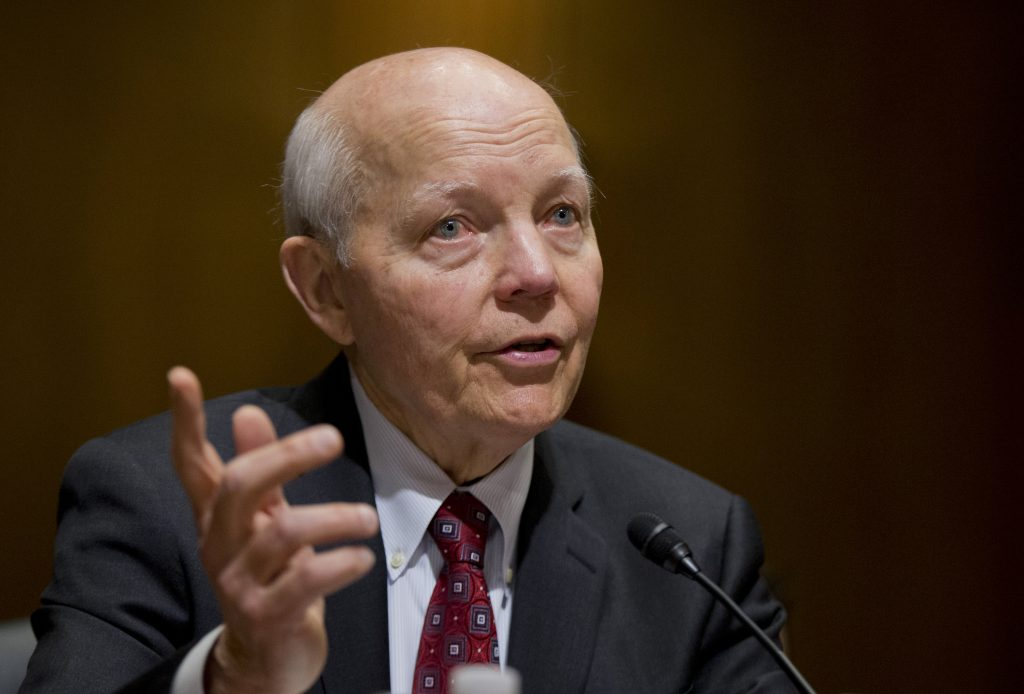 IRS Commissioner John Koskinen, shown here testifying on Capitol Hill on Feb. 10, 2016. (AP Photo/Manuel Balce Ceneta, File)