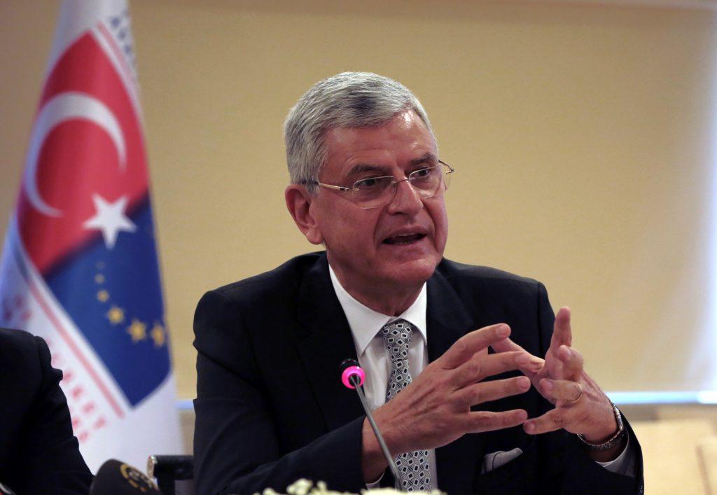 Turkey's EU Affairs Minister Volkan Bozkir (AP Photo/Burhan Ozbilici)