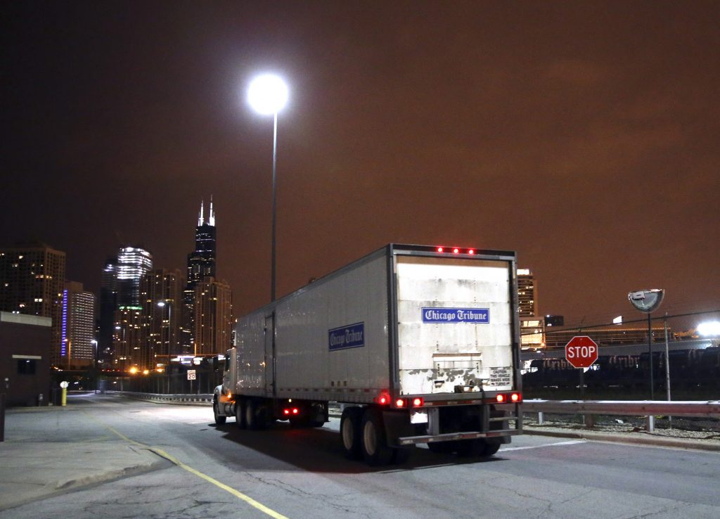 A Chicago Tribune newspaper truck. (Nuccio DiNuzzo/Chicago Tribune/TNS) .