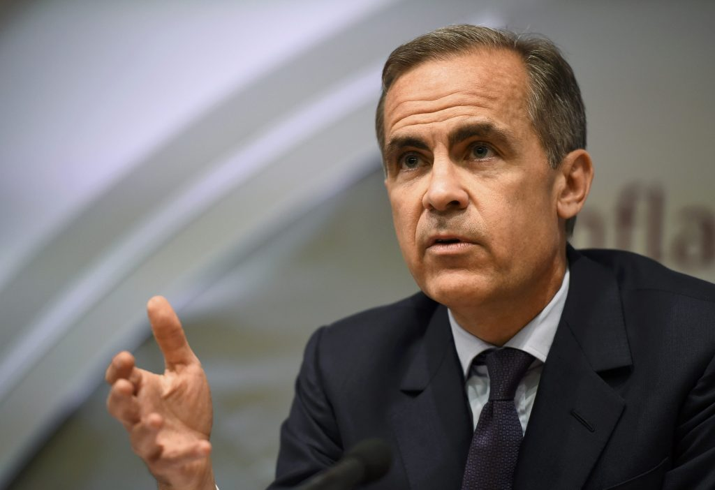 Governor of the Bank of England Mark Carney delivers his monthly inflation report at the Bank of England in the City of London, Britain, May 12, 2016. REUTERS/Dylan Martinez