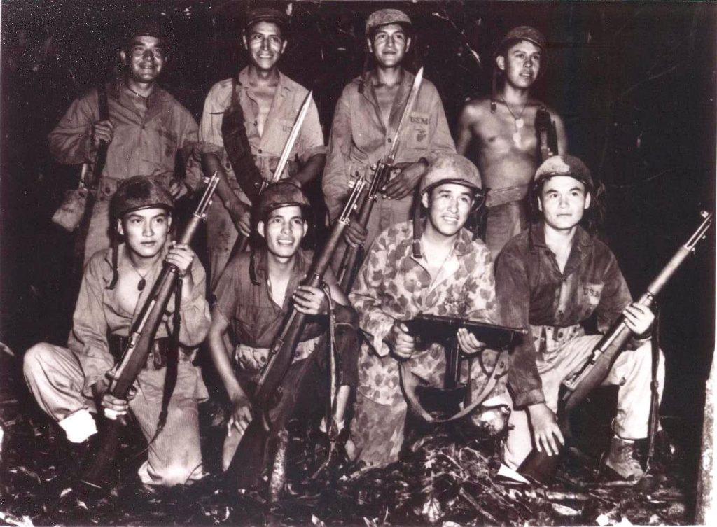Marine code talkers in December of 1943 in Papua New Guinea. (United States Marine Corps)