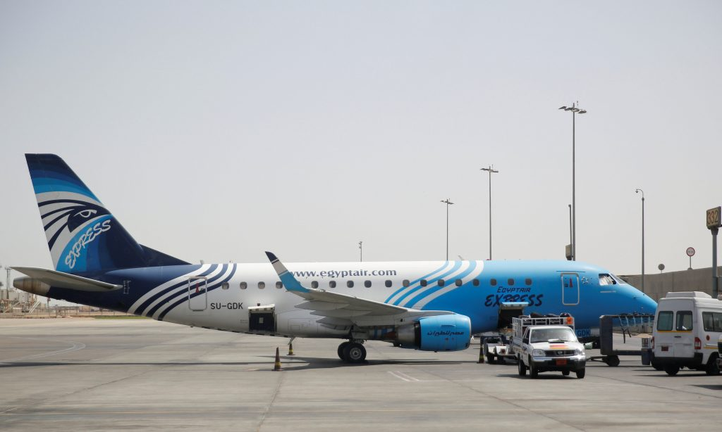 Workers service an Egyptair flight at International Cairo Airport, Egypt May 21, 2016. REUTERS/Amr Abdallah Dalsh