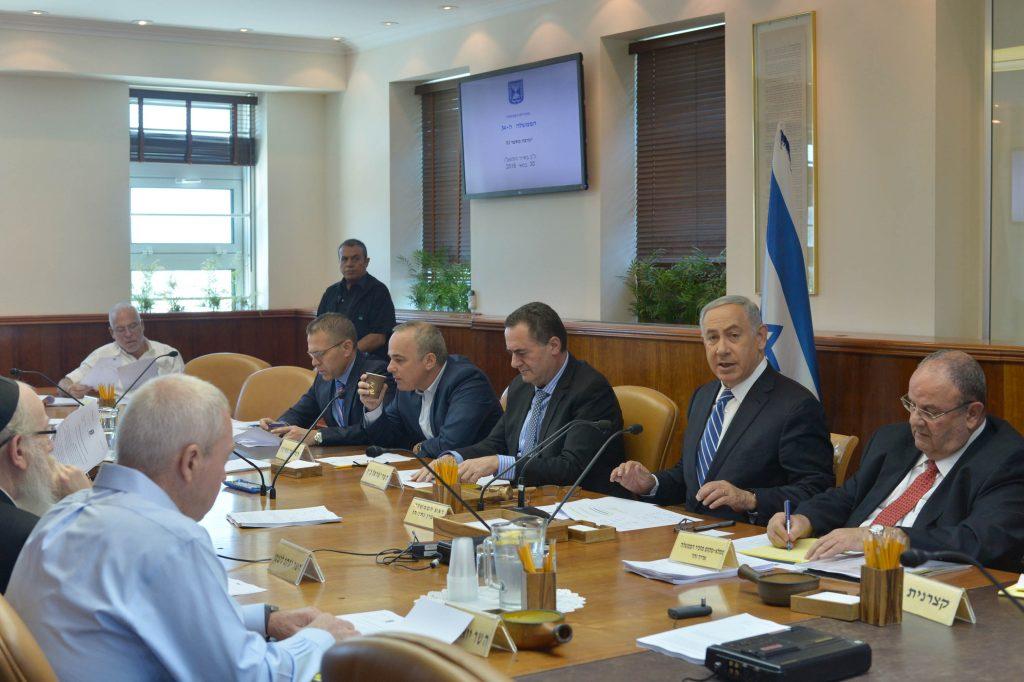 Israeli Prime Minister Benjamin Netanyahu leads the government conference on May 30, 2016. Photo by Kobi Gideon / GPO *** Local Caption *** ראש הממשלה בנימין נתניהו ישיבת ממשלה