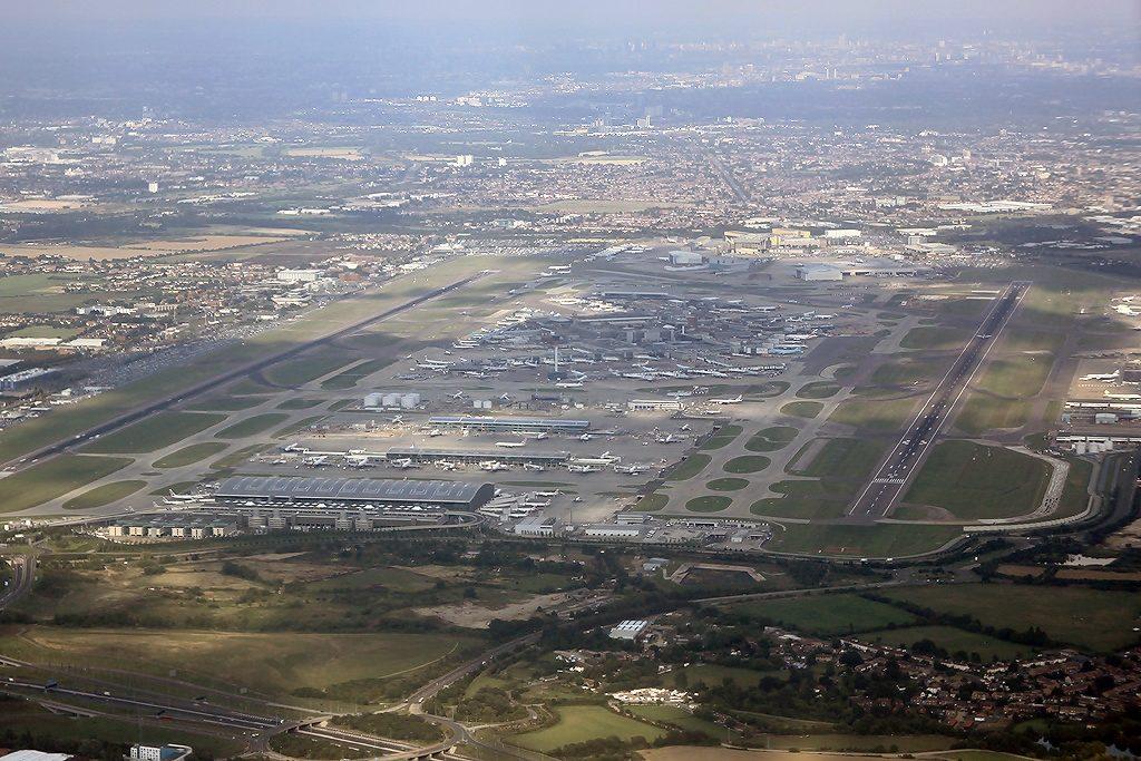 An aerial view of Heathrow Airport, London. (Konstantin Von Wedelstaedt)