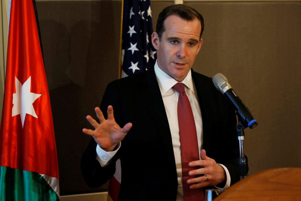 Brett McGurk, the United States' envoy to the coalition against Islamic State, speaks during a news conference in Amman, Jordan, May 15, 2016. REUTERS/Muhammad Hamed