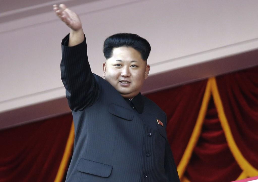In this Oct. 10, 2015 photo, Kim Jong Un waves at a parade in Pyongyang, North Korea. (AP Photo/Wong Maye-E, File)