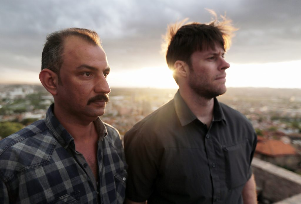 Chase Millsap, right, and the Captain in Ankara, Turkey, in June 2015. (Spencer Millsap/National Geographic via AP)