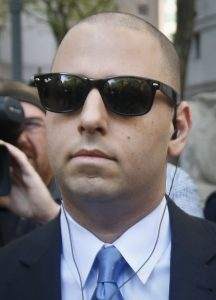 Adam Skelos arrives at the courthouse on Thursday. (AP Photo/Bebeto Matthews)